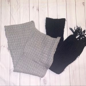 ♡  Set of Black and Gray Scarves ♡